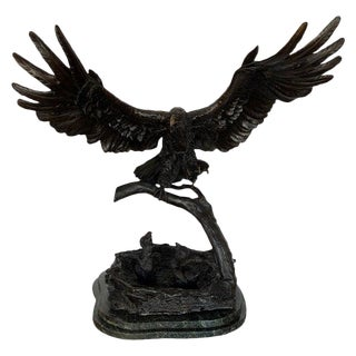 Eagles Lair Bronze on Marble by Ed Chope For Sale