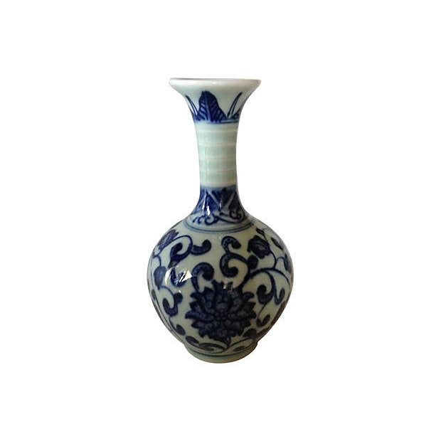Chinoiserie Blue & White Porcelain Vases - S/3 - Image 4 of 4