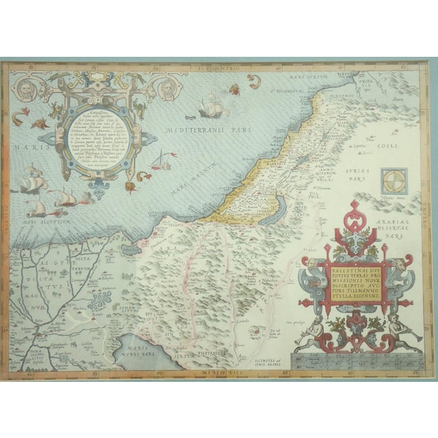 Vintage Print of Antique Palestine & Syria Map - Image 2 of 5