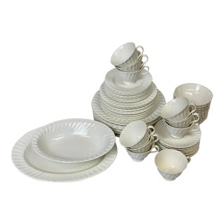 Vintage Royal Doulton Cascade Dinnerware & Serveware Set For Sale