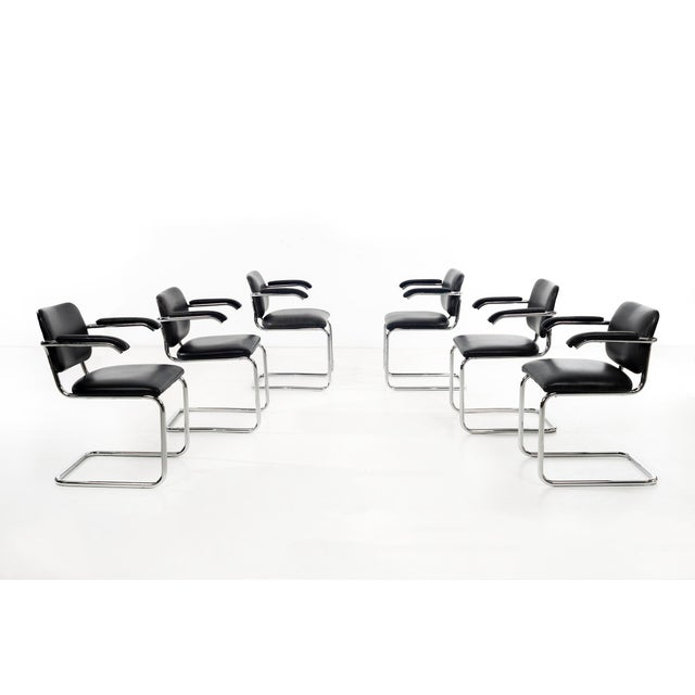 Mid-Century Modern Set of 12 Marcel Breuer Dining Chairs For Sale - Image 3 of 11