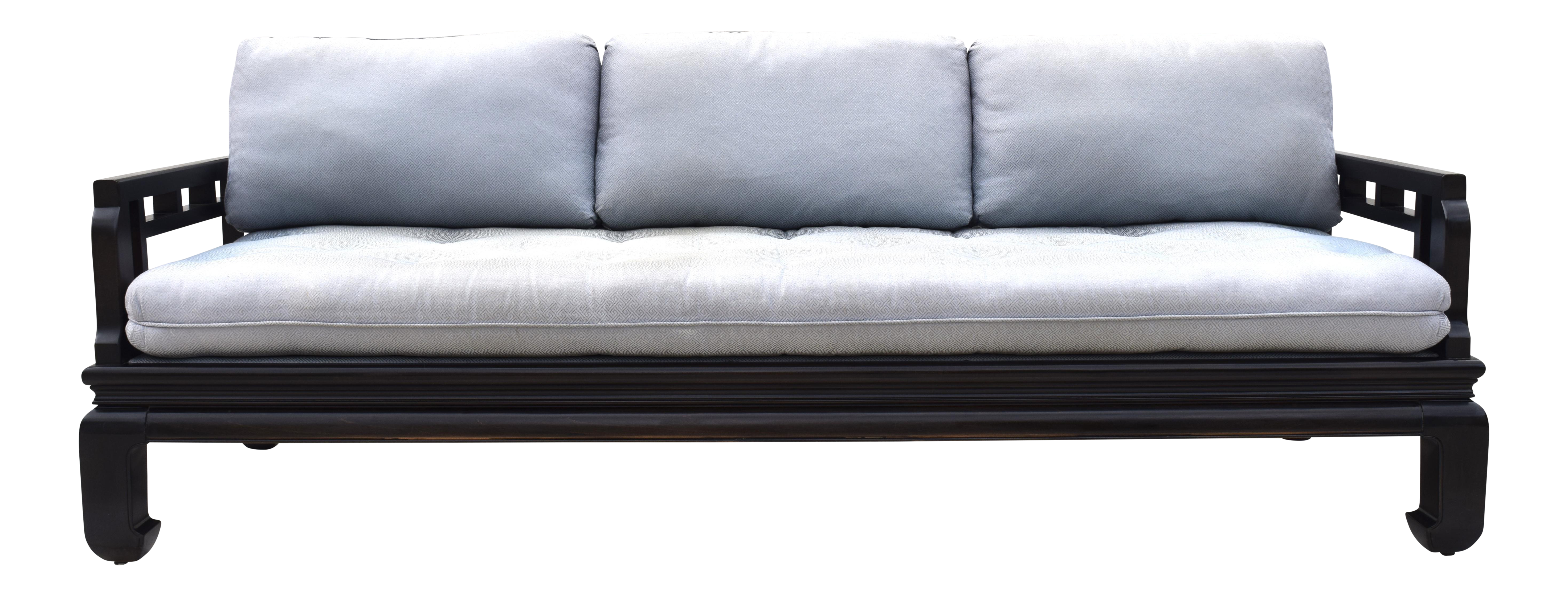 Charmant Michael Taylor For Baker Asian Chippendale Style Sofa For Sale