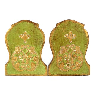 Florentine Giltwood Bookends, S/2 For Sale