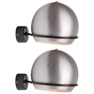 Pair of Aluminum Sconces by Candle