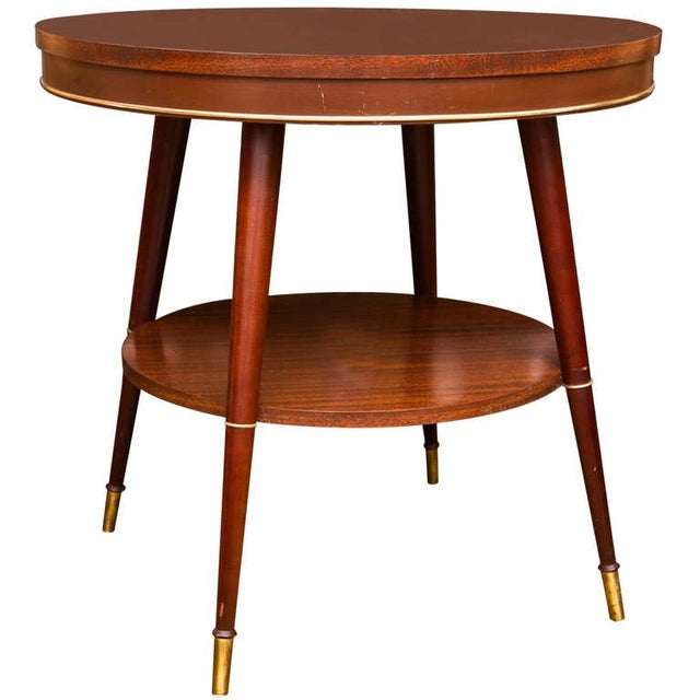 Faux Rosewood Table - Image 1 of 7