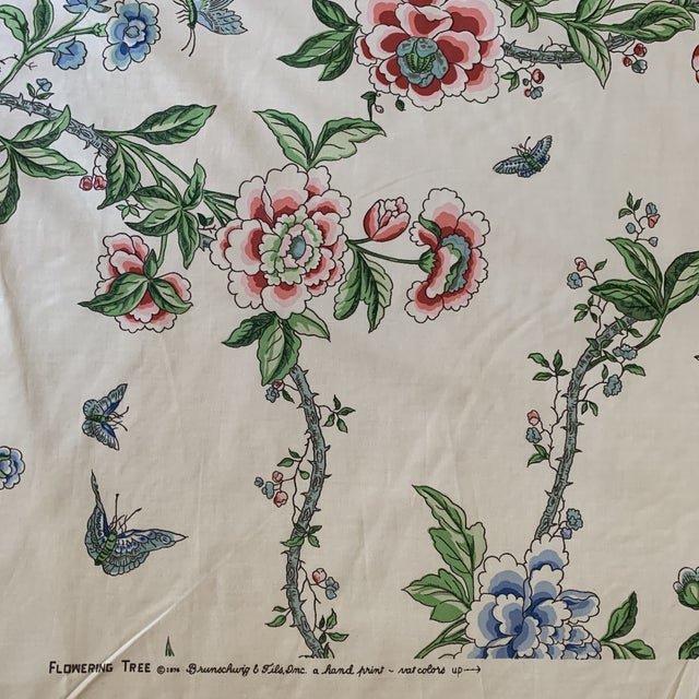 Textile Brunschwig and Fils Flowering Tree Cotton Fabric- 4 Yards For Sale - Image 7 of 7