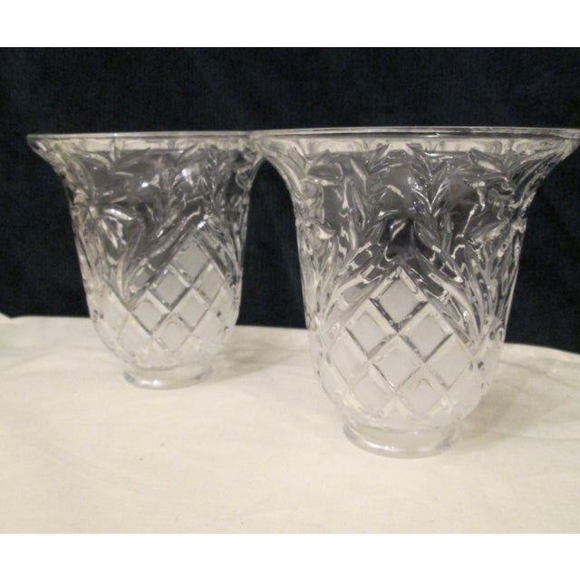 Vintage Cut Glass Light Shade Covers - Set of 6 For Sale - Image 4 of 13