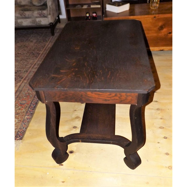 Antique Walnut Library Desk For Sale - Image 4 of 11