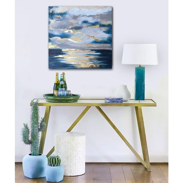 'At Sea' Original Abstract Landscape Painting by Linnea Heide For Sale - Image 6 of 8