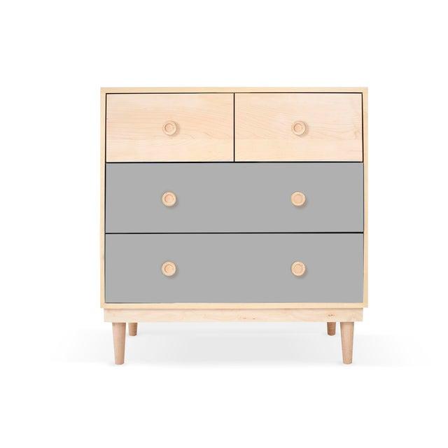Not Yet Made - Made To Order Nico & Yeye Lukka Modern Kids 4 Drawer Dresser Maple Gray For Sale - Image 5 of 5