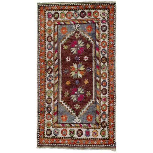 Late 20th Century 1970s Vintage Turkish Oushak Rug - 2′6″ × 4′6″ For Sale - Image 5 of 5