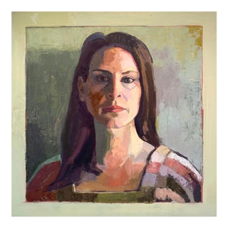 Original Oil Painting - Moody Portrait of a Woman For Sale