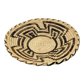 20th Century Native American Tohono O'odham Woven Basket For Sale
