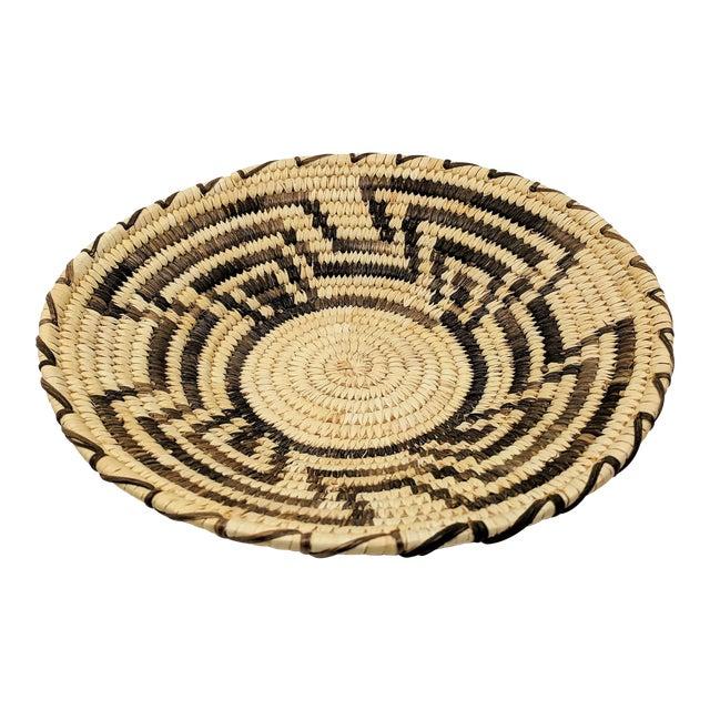 20th Century Native American Tohono O'odham Woven Basket For Sale