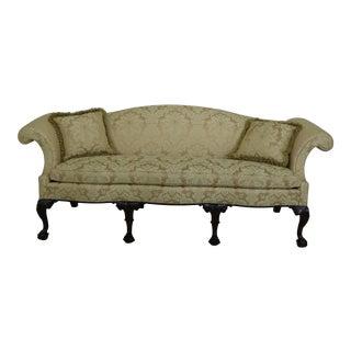 Stickley Colonial Williamsburg Ball & Claw Mahogany Sofa For Sale
