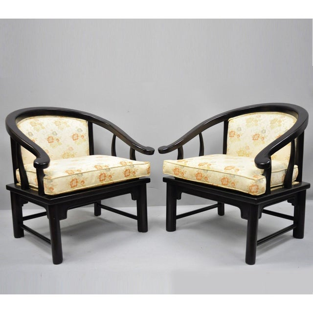 Century Chair James Mont Horseshoe Ming Style Lounge Armchairs - a Pair For Sale - Image 11 of 11