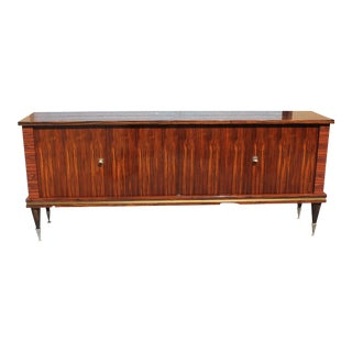 1940s Art Deco Exotic Macassar Ebony Sideboard/Buffet For Sale