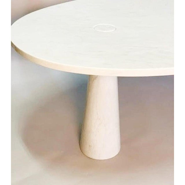 Angelo Mangiarotti Console in Carrara Marble by Angelo Mangiarotti For Sale - Image 4 of 5