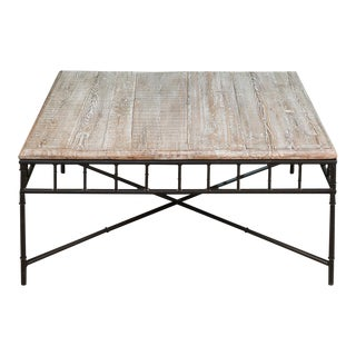 Mid-Century Modern Bamboo Coffee Table
