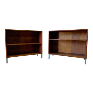 Mid Century Modern Walnut Bookcases - A Pair For Sale