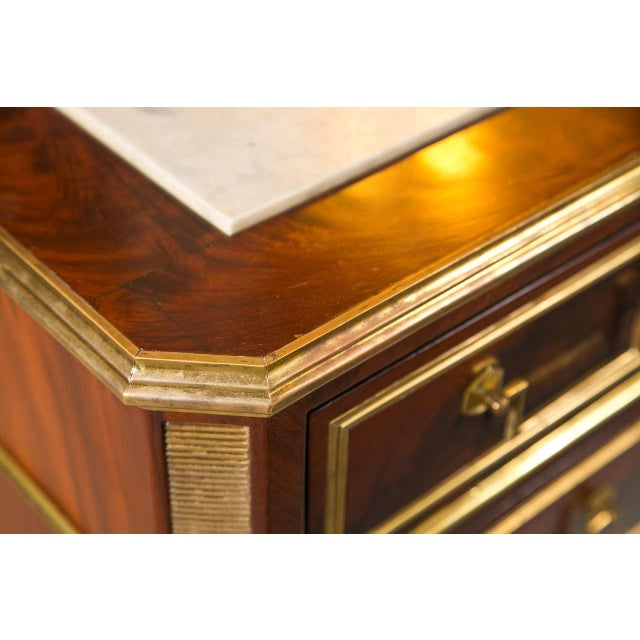 Neoclassical French Louis XVI-Style Chest of Drawers For Sale - Image 3 of 9