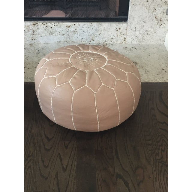 John Derian Taupe Moroccan Poufs - A Pair - Image 4 of 5