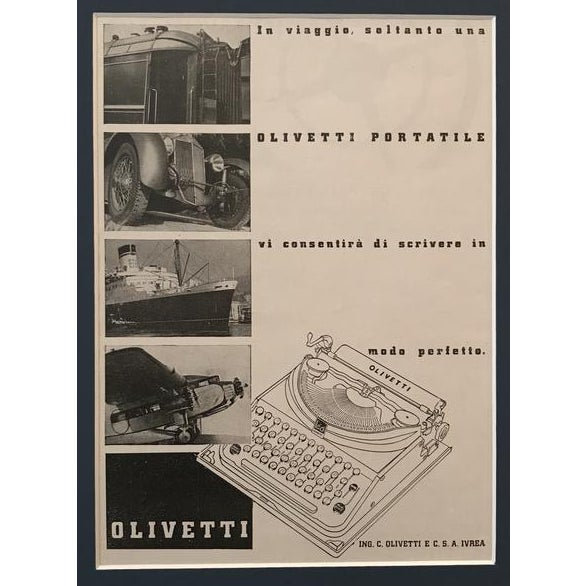 """About Olivetti: Our friends at Wikipedia tell us that, """"Olivetti was founded as a typewriter manufacturer by Camillo..."""