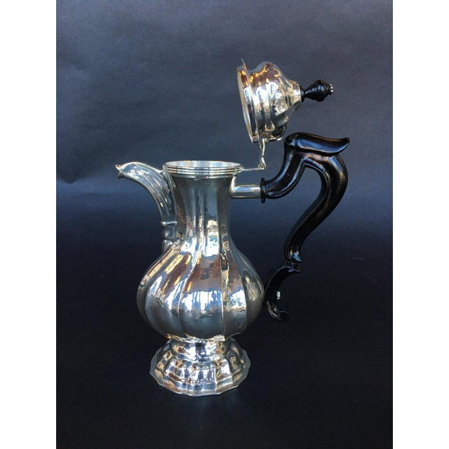 Gothic Antique Sterling Silver Tea Pot For Sale - Image 3 of 6