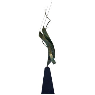Monumental Verdigris Bronze Abstract Sculpture by Curtis Jere For Sale