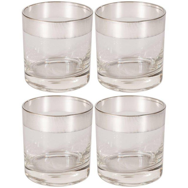 Mid-Century Low Ball Glass With Sterling Silver Overlay by Dorothy Thorpe - Set of 4 For Sale In New York - Image 6 of 6