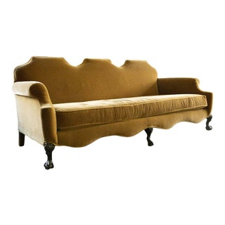 1920s Vintage Camel Mohair Sofa For Sale