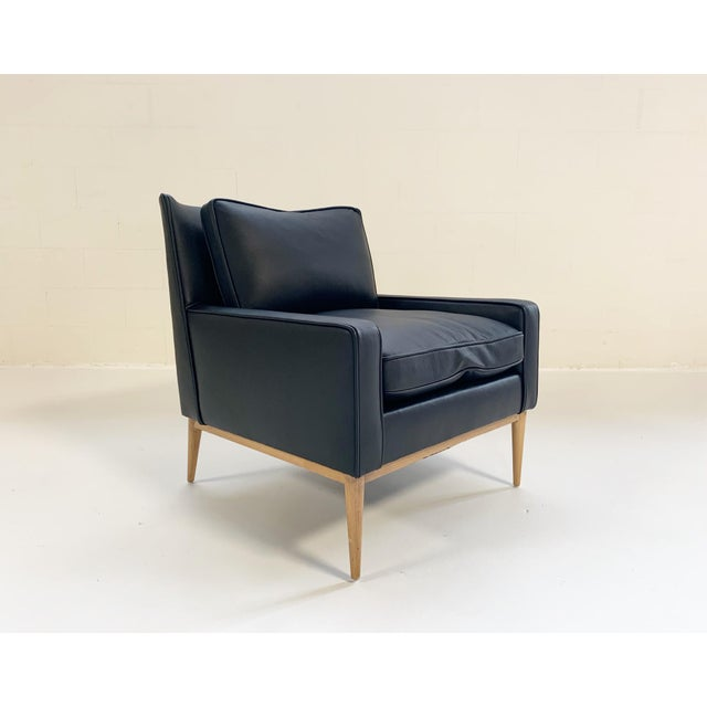 Paul McCobb for Directional Model 302 Lounge Chair in Loro Piana Bufalo Leather For Sale - Image 9 of 9