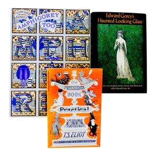 Vintage Edward Gorey Illustrated Books - Set of 3