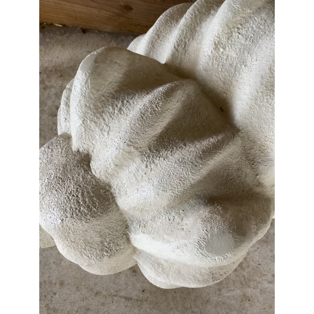 Large Vintage Sculptural Plaster Shell Table Bases-Pair For Sale - Image 10 of 13