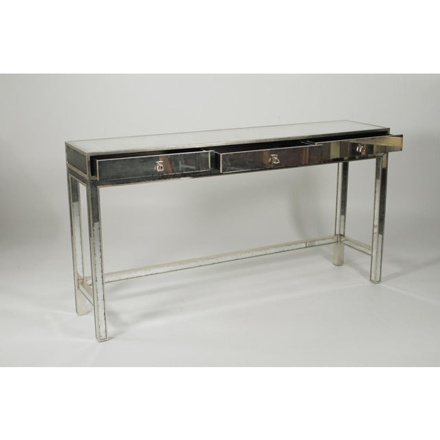 20th Century Art Deco John Richard Mirrored Modern Console Table For Sale - Image 9 of 10
