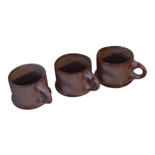 "Dansk ""BLT"" Spice Tan Stoneware Mugs - Set of 3 For Sale"