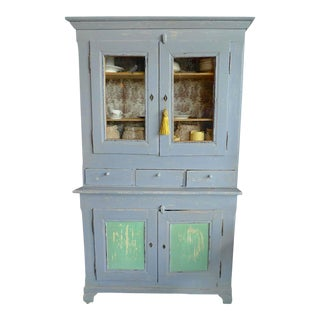 19th Century French Painted Pine Bookcase For Sale