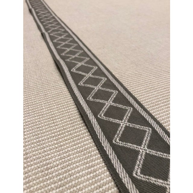 This modern geometric fabric trim makes a beautiful embellishment on drapes, pillows, or furniture. Pricing is firm, this...