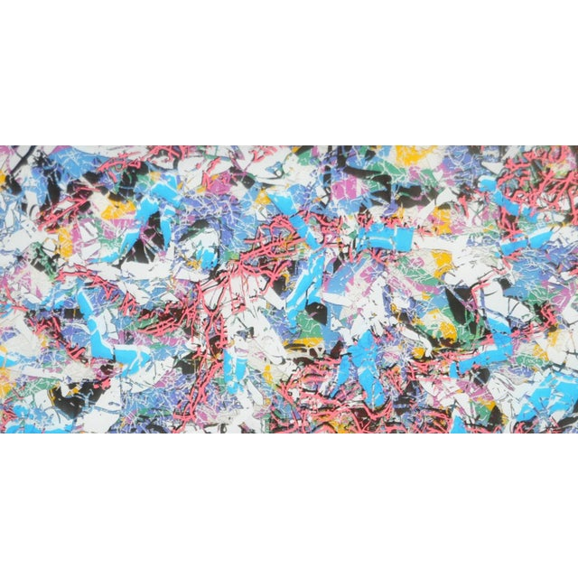 Paul SLAPION Mixed Media Painting c.1985. Created with many layers of glass, ink and oils. Visually stunning...