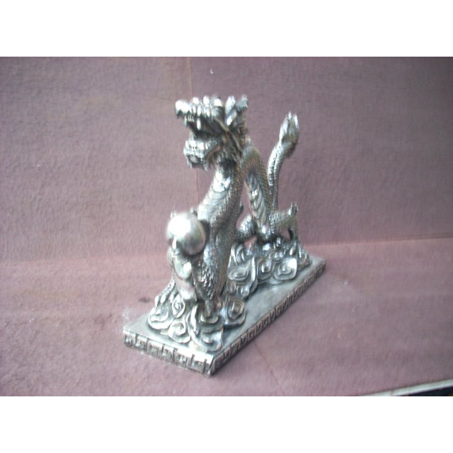 Asian Chinese Dragon Statue For Sale - Image 3 of 3