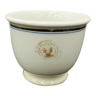 Antique Porcelain Us Naval Cup For Sale