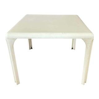 Vico Magistretti for Artemide White Stadio 100 Table, Mid-1960s For Sale