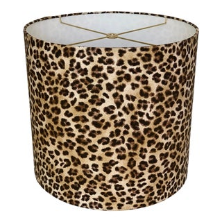Leopard Print Drum Lampshade For Sale