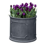 Portchester Round Planter, Extra Large, Lead Lite