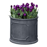Image of Portchester Round Planter, Extra Large, Lead Lite For Sale
