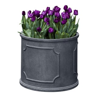 Portchester Round Planter, Extra Large, Lead Lite For Sale