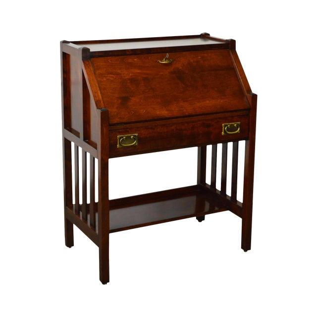 Danner Antique Mission Style Mahogany Slant Lid Writing Desk - Danner Antique Mission Style Mahogany Slant Lid Writing Desk Chairish