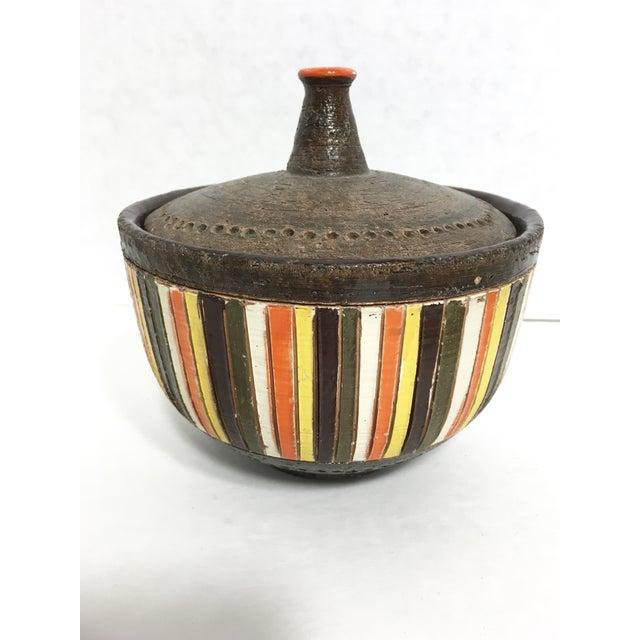Italian Mid-Century Bitossi Lidded Bowl - Image 2 of 8