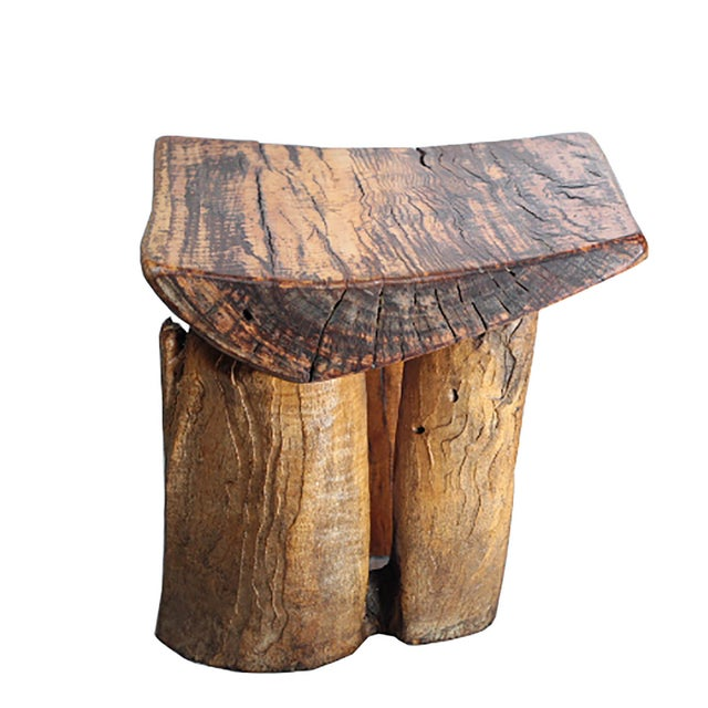Rustic Tree Stump Stool - Image 5 of 6