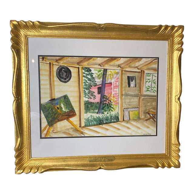 Mid 19th Century Joseph Pollet Original Framed Painting For Sale